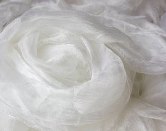Pure silk gauze, sparse, for nunofelting 90 cm, 35 inch