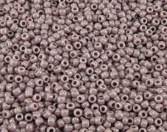 TOHO 11/0 Round Seed Beads - Opaque Lavender - 20 gram Bag - Lilac Purple Grape February - Color Code 52 - Jar 87