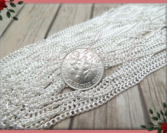 32ft Bulk Chain, Silver Plated Curb Chain 32 Feet, SC4