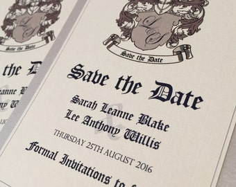 Coats of Arms | Save the Date Cards