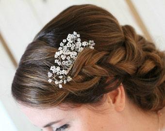 Bridal comb, bridal hair comb, crystal hair comb, wedding headpiece, bridal headpiece, hair comb, hair accessories, wedding hair piece,