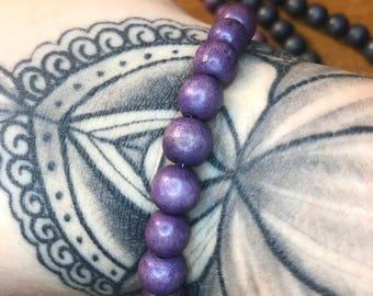 Purple Wood Bracelets