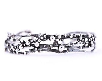Antique Silver Cuff Bracelet - vintage style