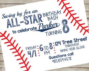 Baseball Invitation PIY file ~ Baseball Baseball Party Invite ~ Baseball Printable ~ Baseball Strings ~ Digital File