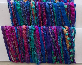 Hand dyed yarns, Aurora - for papercrafting and scrapbooking