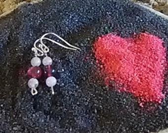 Sweetheart dainty dangle earrings