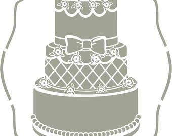 Stencil, large cake cake