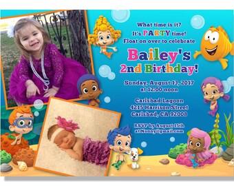 Bubble Guppies Invitations - Digital File