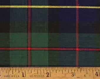 "Barron Blue Tartan Christmas Plaid Homespun Cotton Fabric (Full Yard 36"" x 44"")"