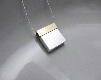 Collier minimaliste contemporain Mixed bijoux en métal Architecture série I
