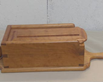 Candle box made out of cherry