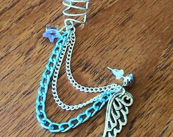 Sweet Angel Ear Cuff Earrings
