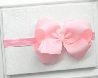 Light Pink Bow Headband - Pink Boutique Bow Headband - Pink Bow Headband