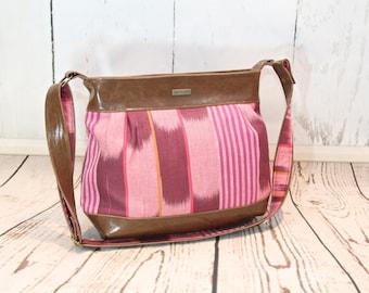 Large pleated bag, large purse, faux leather bag, women's bag