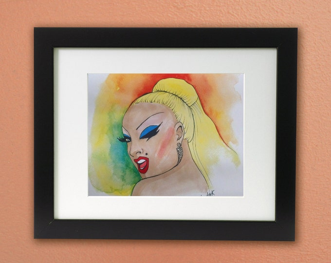 Divine print: John Waters art tribute Drag Queen icon