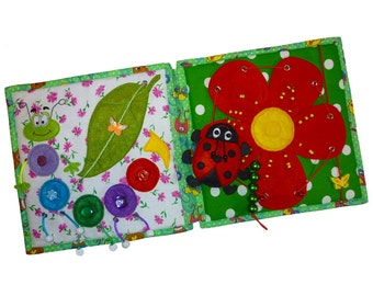 Quiet book, felt book, activity book, baby book, busy book, soft book ( 10 pages )