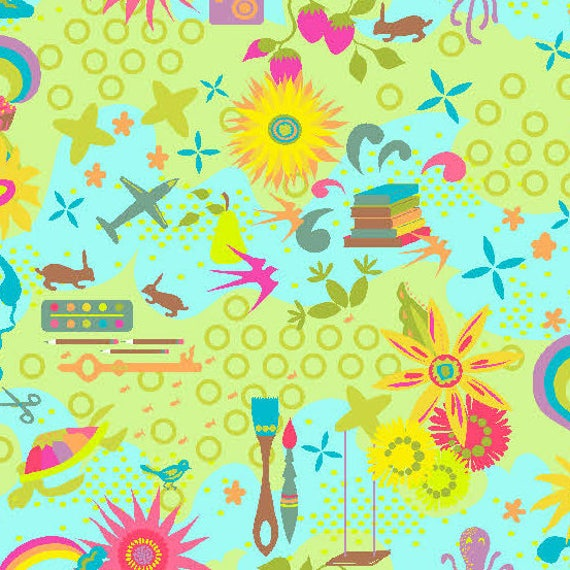 1/2 yd FAVORITES Sunny REMIX Clover Sunshine A-7239-T Alison Glass 2018