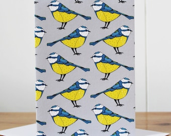 Blue Tit Notecard - Easter Card - thank you card  - notecard - blank notecard - note card - garden bird - gardeners gift - gardeners card