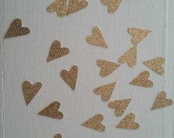 Rose Gold Heart Confetti