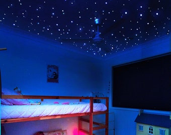 Tiny But Bright Glow in the Dark Stars Ceiling Decals for Galaxy Wall Decor, Celestial Ceiling Stars, Realistic Stars, Glowing Star Stickers