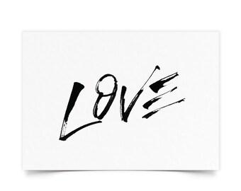 LOVE - Hand lettered Print
