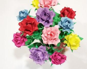 Dozen paper flower roses