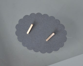 Bar Earrings, Stud Earrings, Tiny Earrings, Small Stud Earrings, Modern Studs, Minimal Stud Earrings, Stick Earrings, Gold Earrings, Rose