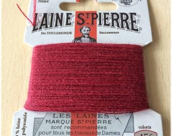 St. Pierre 456 Burgundy wool yarn