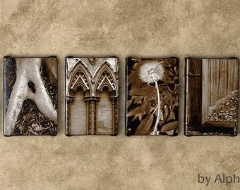 Family Sign, Family Sign Canvas, Alphabet Art Canvas, Rustic Family Sign, Vertical Family Sign, Large Family Sign