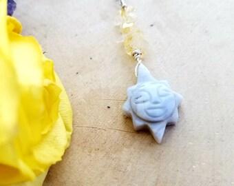 Blue Lace Agate & Citrine