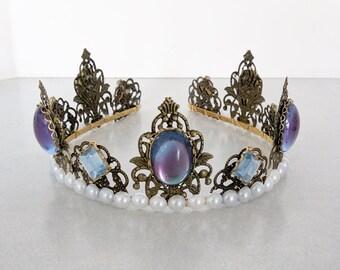 Renaissance Tiara, Crown, Medieval, Renaissance Jewelry, Tudor, Headpiece, Headdress, Renaissance Crown, Ready 2 Ship, SALE