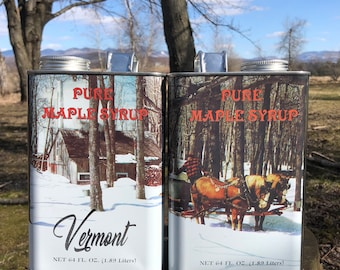 1 Gallon Organic Pure Vermont Maple Syrup, Free Shipping