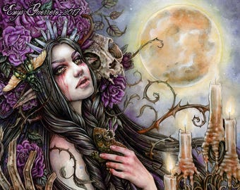 My Wild Feelings 8x10' Print- Fantasy Gothic Art by Enys Guerrero