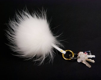 Fur Pompom Keychain, 5 Colors (42-FP-FR00-AS)