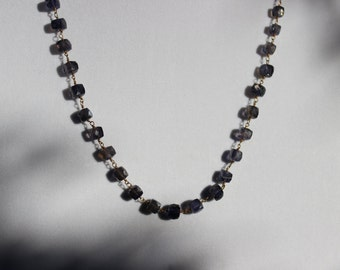 Idolight  Beaded Chain Necklace, Gold Chain Necklace, Gemstone Chain Necklace