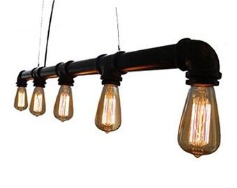 Pipe Light - 5 Bulb