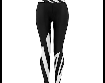 The Walking Zebra Low Rise Leggings