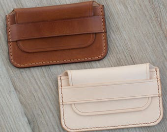 Leather Card Wallet, Leather Card Holder, Mens Wallet, Small Wallet, Brown Wallet, Slim Wallet, Minimalist wallet