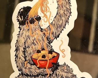 Sloth Eating Spaghetti Magnet