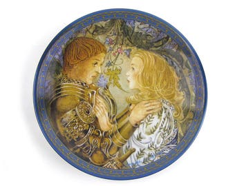 Vintage 1983 Das Gelobnis Decorative Plate Sulamith's Love Song Series Sulamith Wulfing German Fairytale Plate
