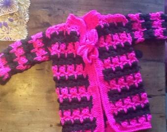 Pattern Girls cardigan in cat stitch