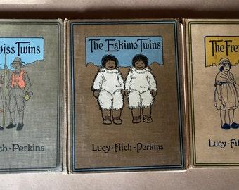 """Three Vintage """"Twin"""" Heritage Books"""