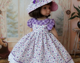 "PDF Sewing Pattern for Dianna Effner 13"" Little Darlings/ LOVE In BLOOM Dress and Hat"