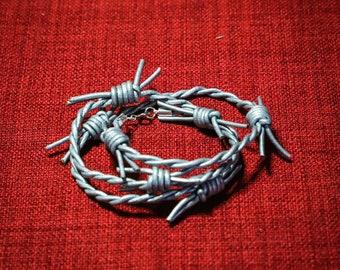 Faux Barbed Wire Triple Wrapped Bracelet