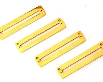 Centerline Bright Gold Plated Pendant Findings Package Of 4