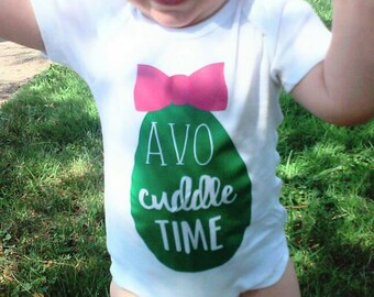 Avocuddle Time onesie, Avocado, Avocado Shirt, Avocado Onesies, Avocuddle,
