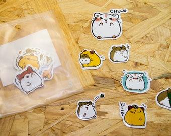 Stickers cute little hamster