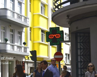 Narrow street scene Madeira