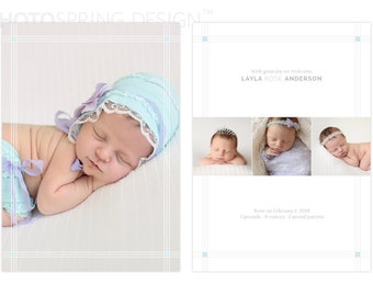 Baby Announcement Template for Photographers