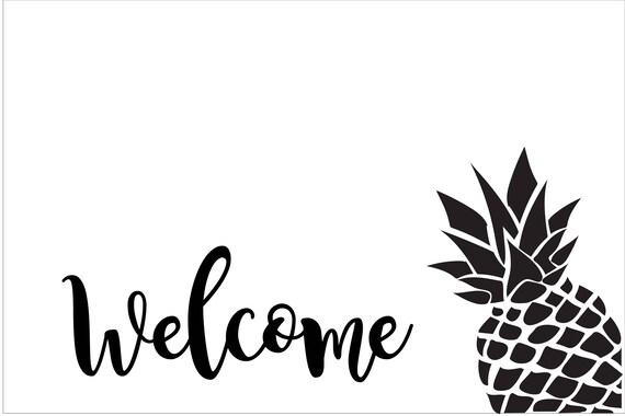 Custom Pineapple Doormat for Taryn